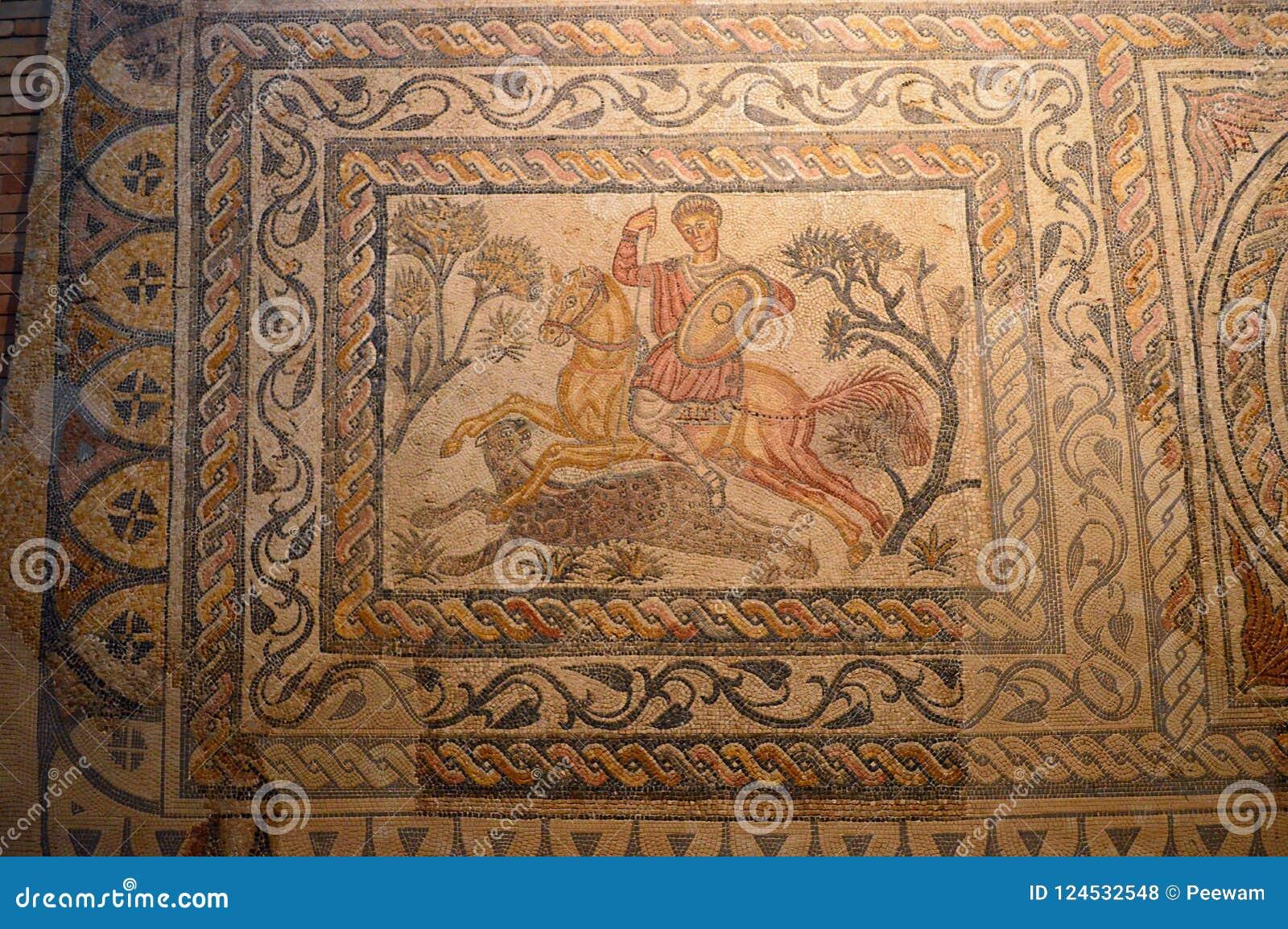 Mosaïque chez Roman Museum, Museo Nacional De Arte Romano Merida, Espagne