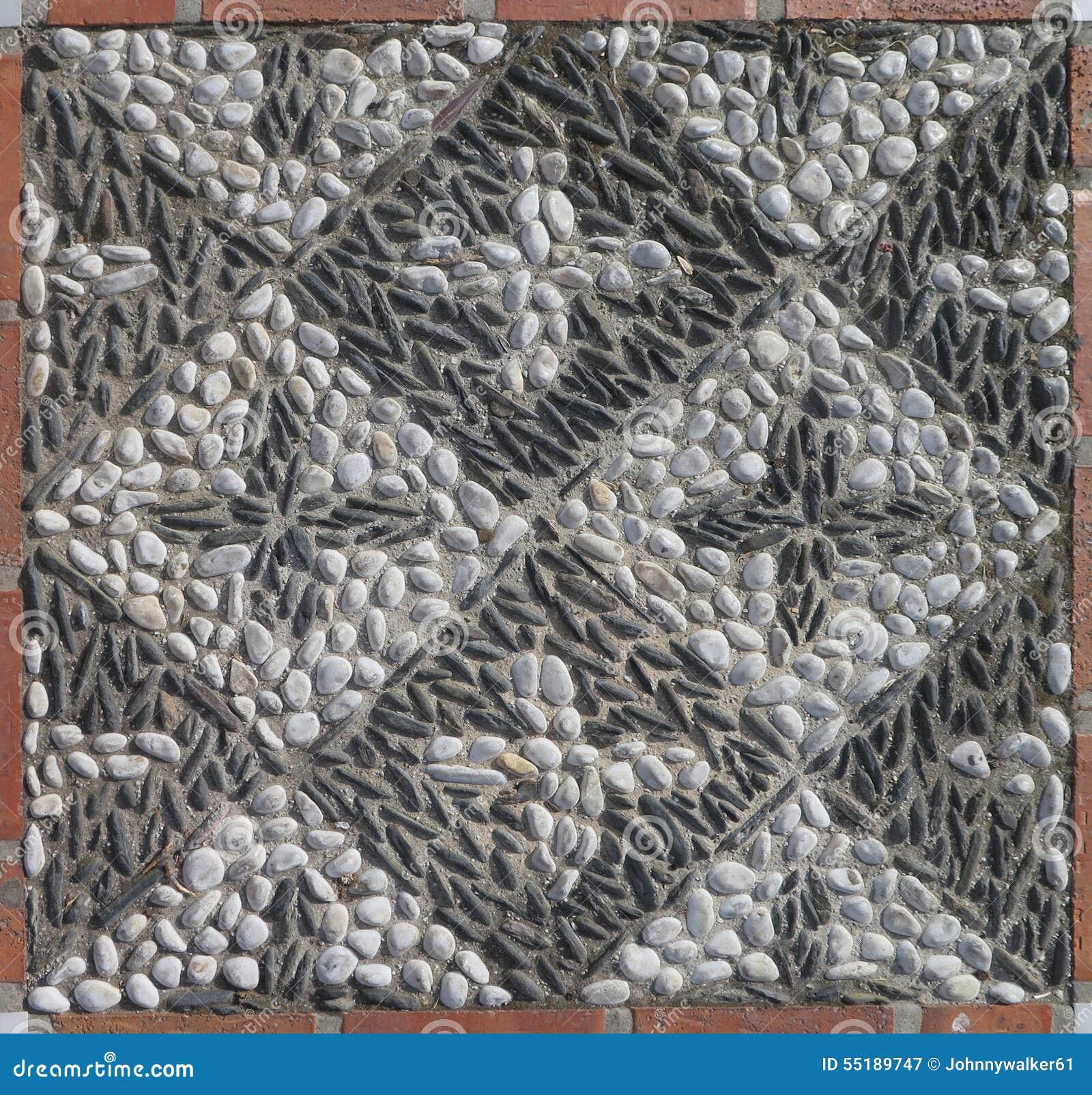 mosaïque de caillou image stock. image du contexte, étage - 55189747