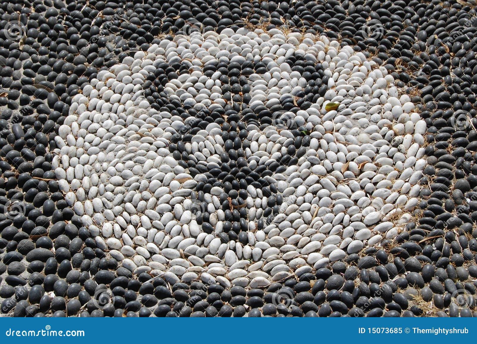 mosaïque de caillou du symbole de hypocrates image stock - image du