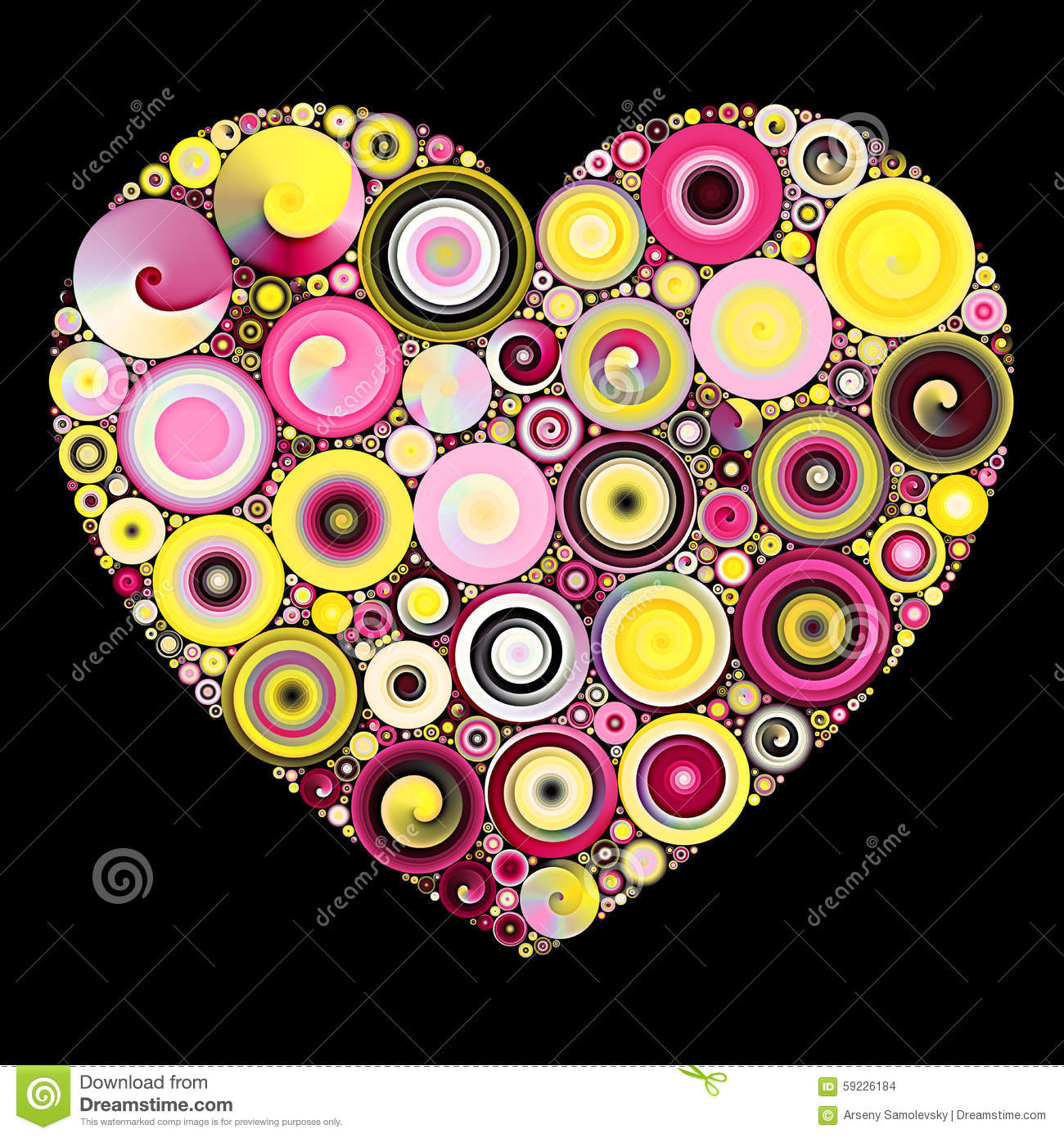 Mosaique De Coeur De Quilling Illustration Stock Illustration Du