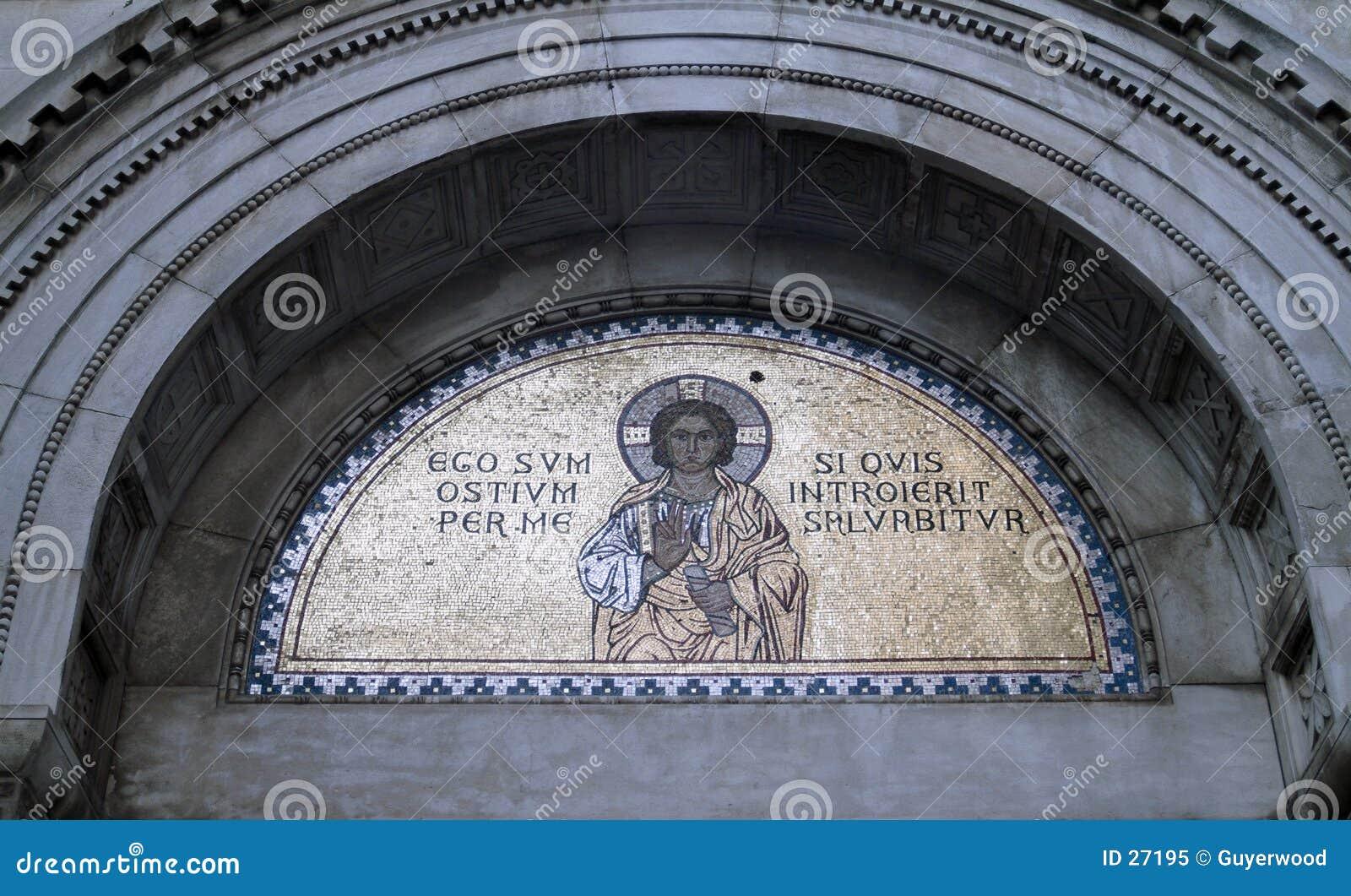Mosaïque religieuse d or