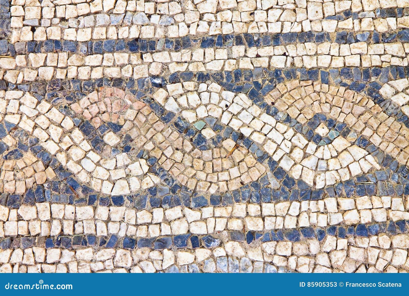 Mosaïque romaine italienne avec l Italie graphique circulaire