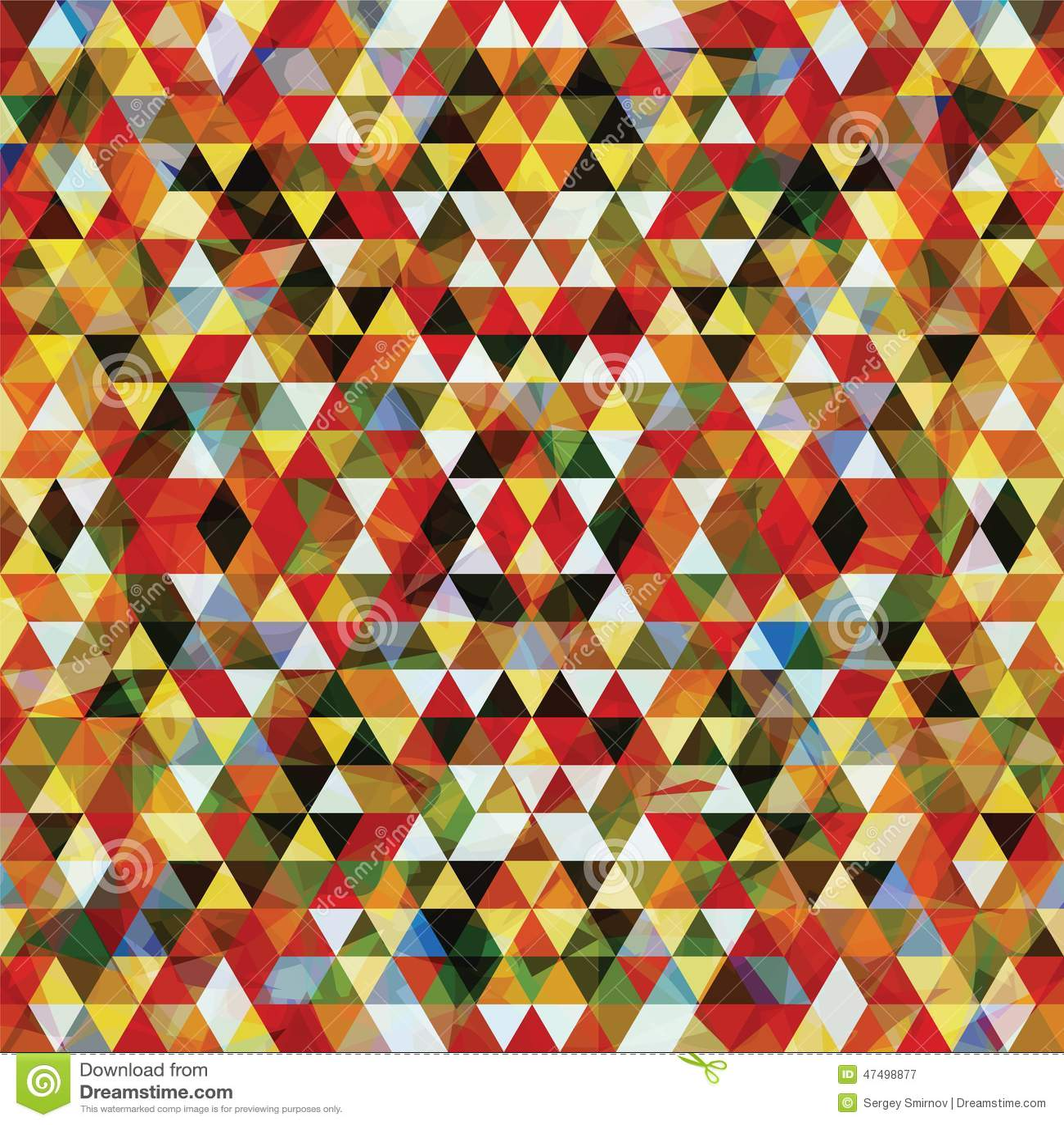 Mosaïque triangulaire BackgroundÂŒ coloré