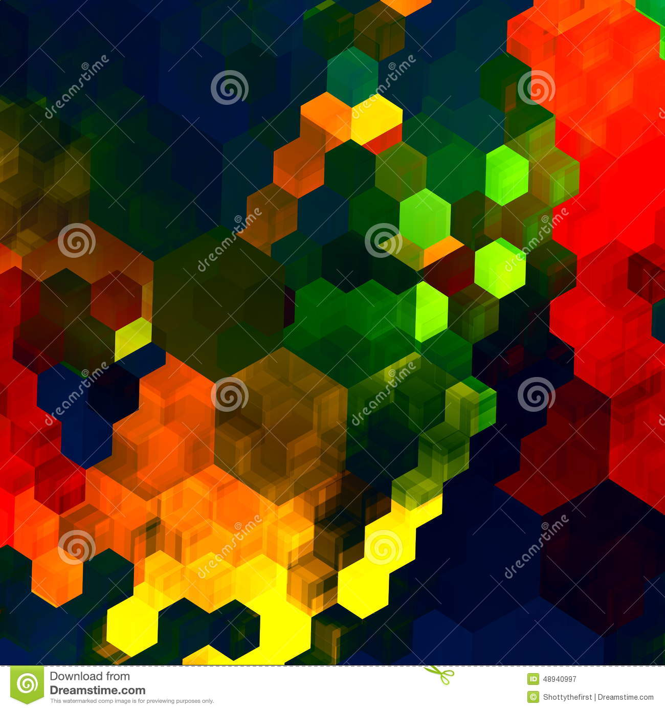 Mosaic Abstract Background. Red Green Blue Colorful Chaotic Pattern ...
