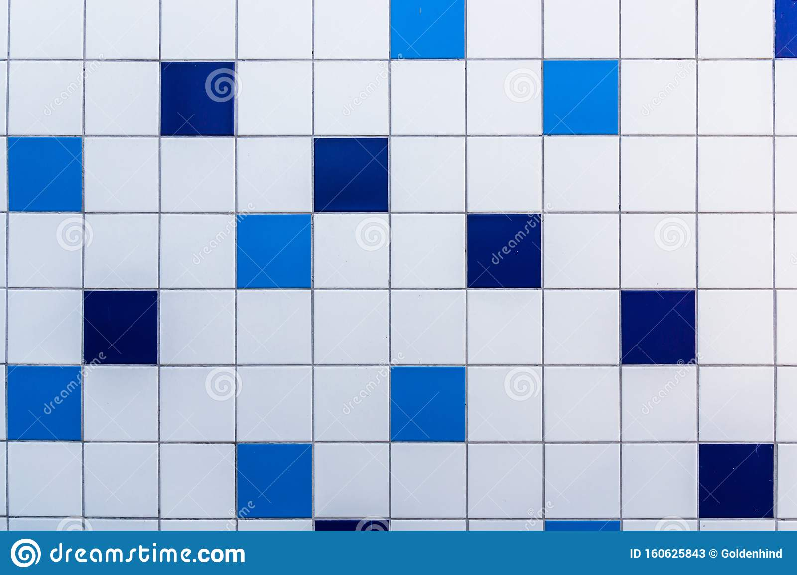 The Mosaic Of The Blue And White Ceramic Tiles Texture Background Stock Image Image Of Decoration Bathroom 160625843