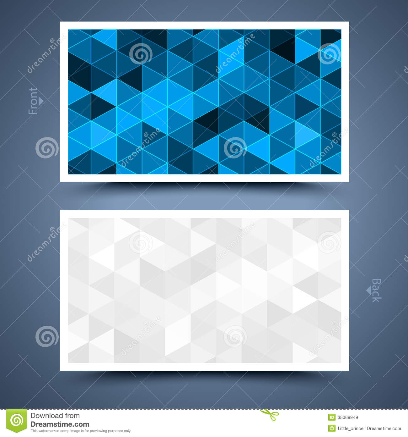 Blue business card template abstract background stock for Business card background templates