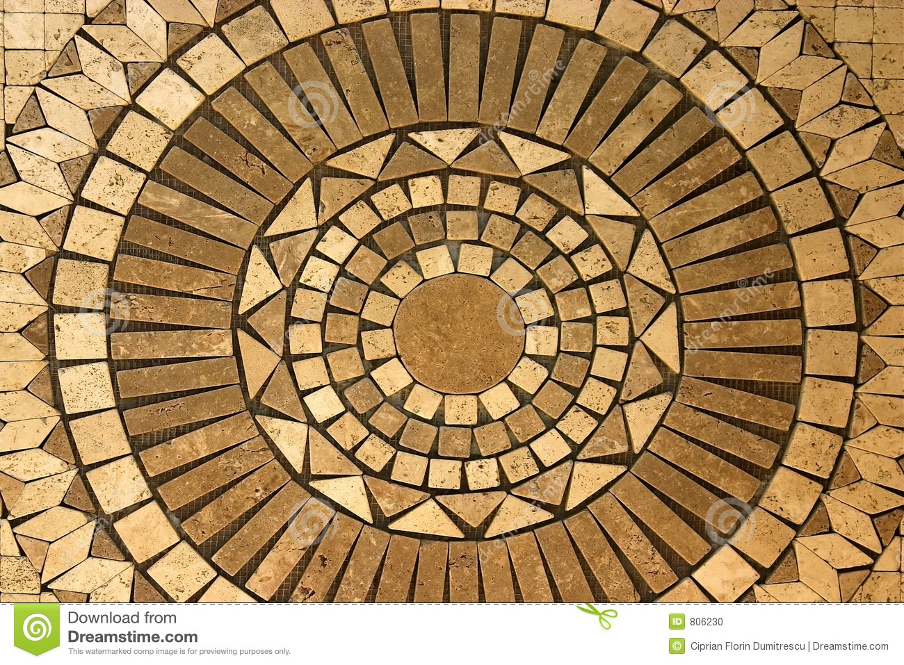 Mosaic Circle Stock Photo Image 806230