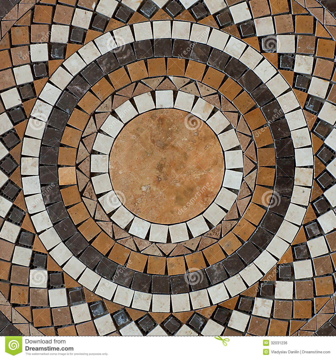 Mosaic Circle Floor Stock Photo Image Of Artistic