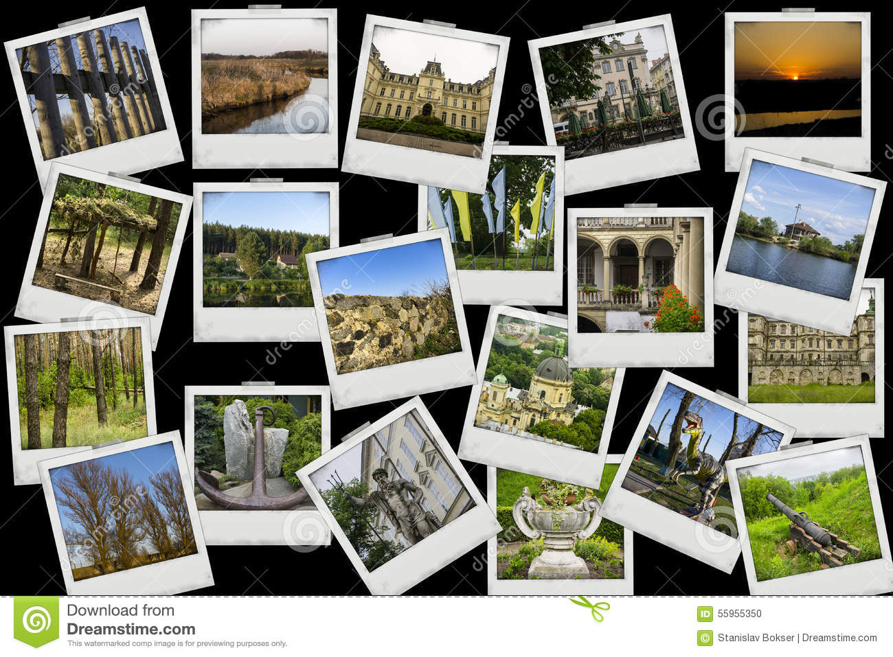 travel places different collage shot objects background mosaic myself landscapes mix