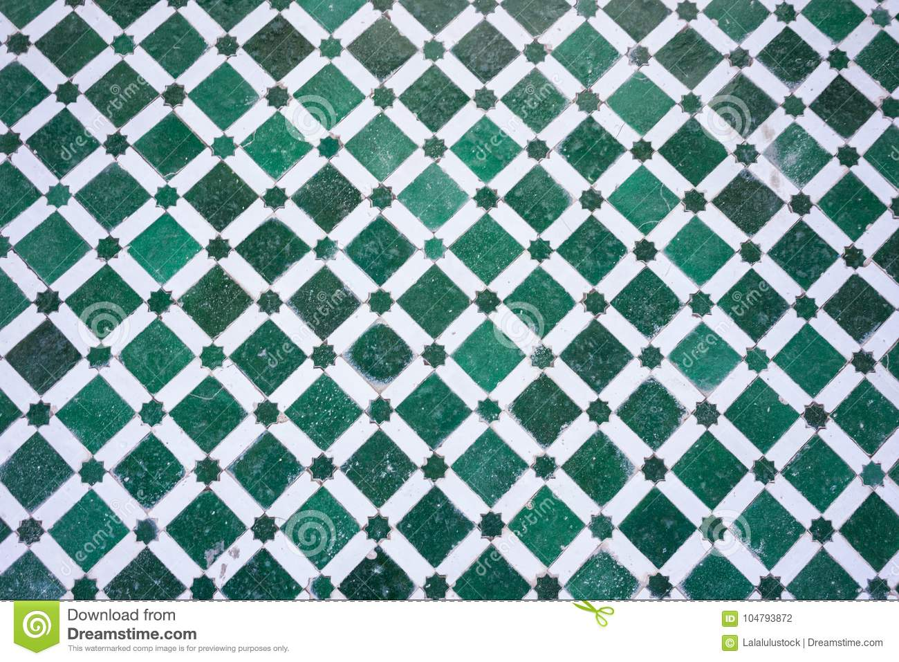 Mosaic Floor Design Pattern Structure With Clear Geometric Lines ...