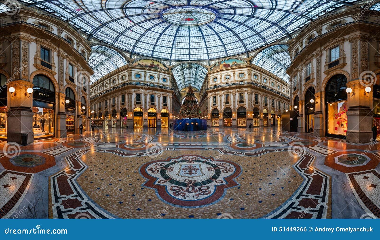 Mosaic Floor And Glass Dome In Galleria Vittorio Emanuele Ii In