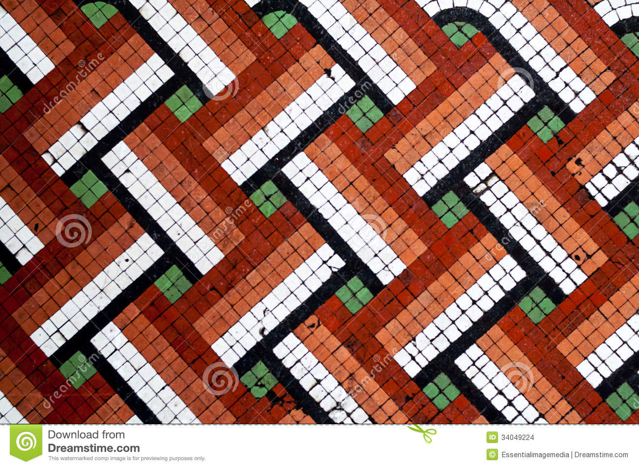 Mosaic Floor Tile Pattern Stock Photo Image Of Exterior