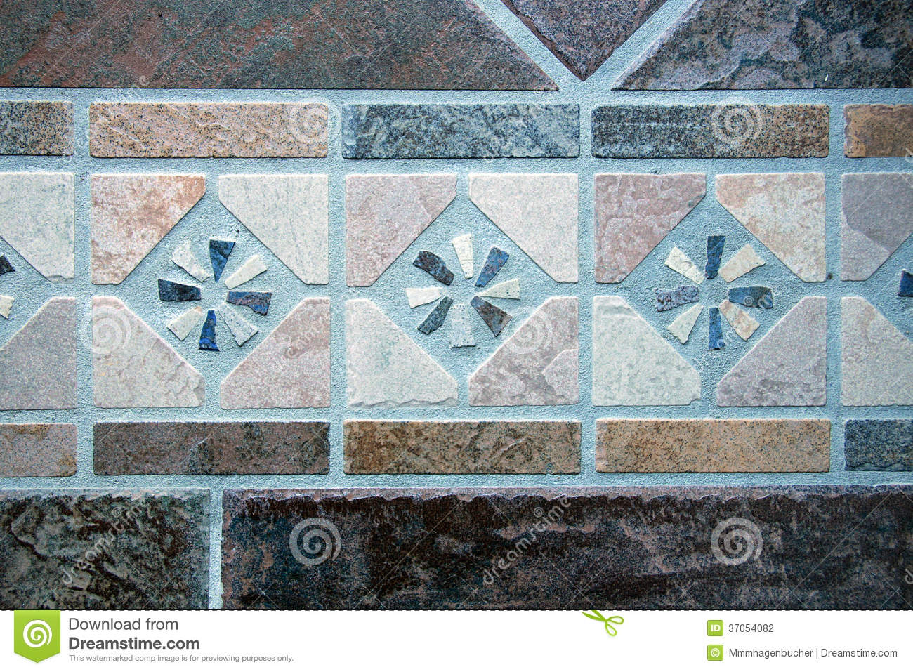 Mosaic of Floor Tiles stock photo. Image of formless - 37054082