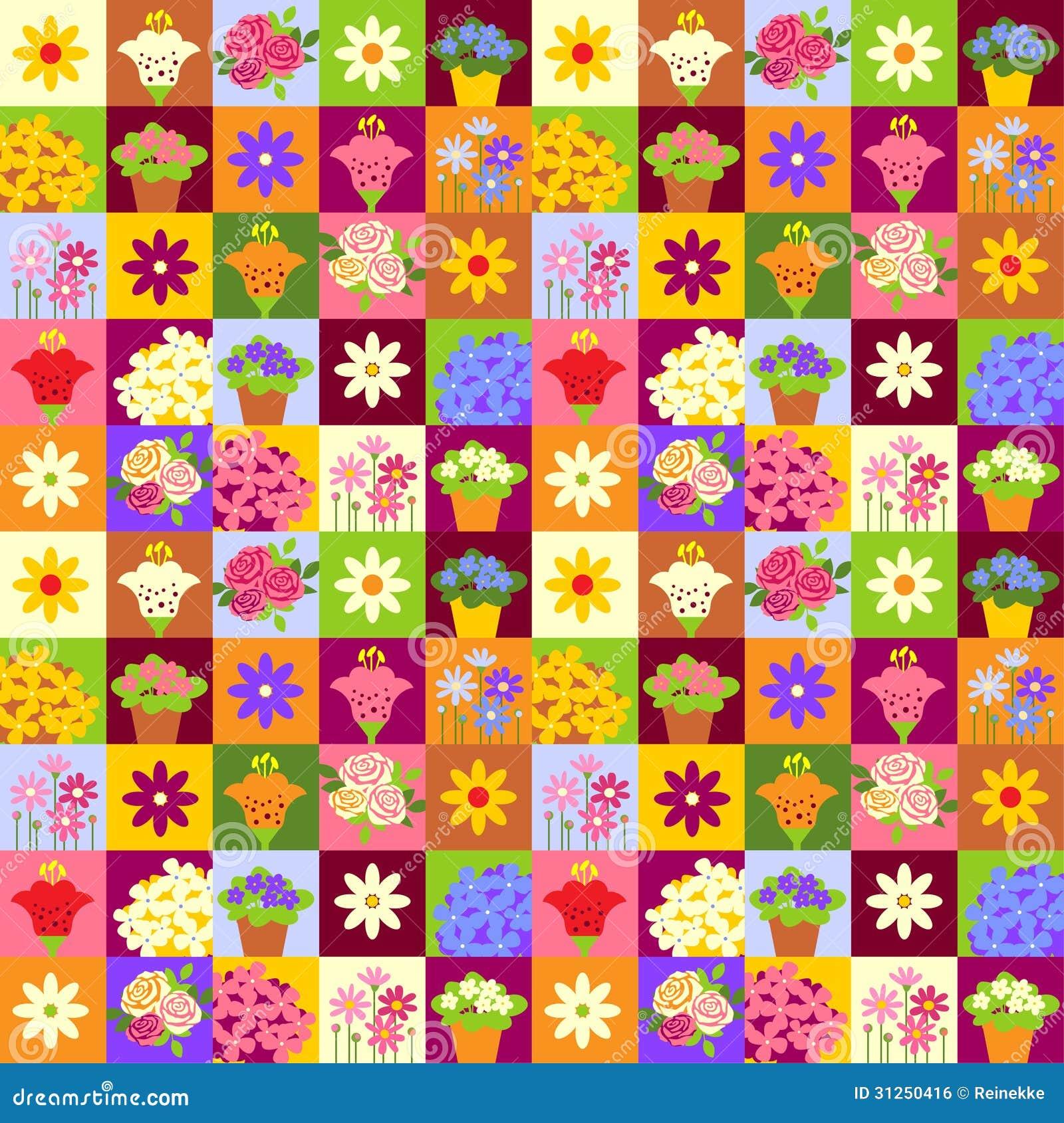 Mosaic flower pattern