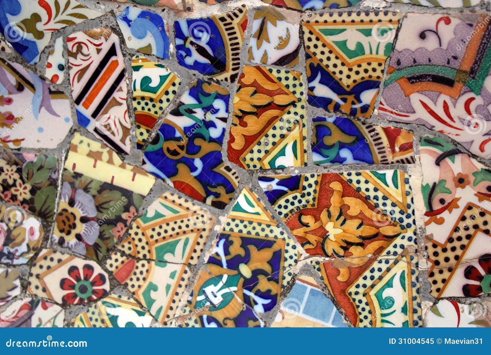 Mosaic Fragment Stock Image Image Of Colour Orange