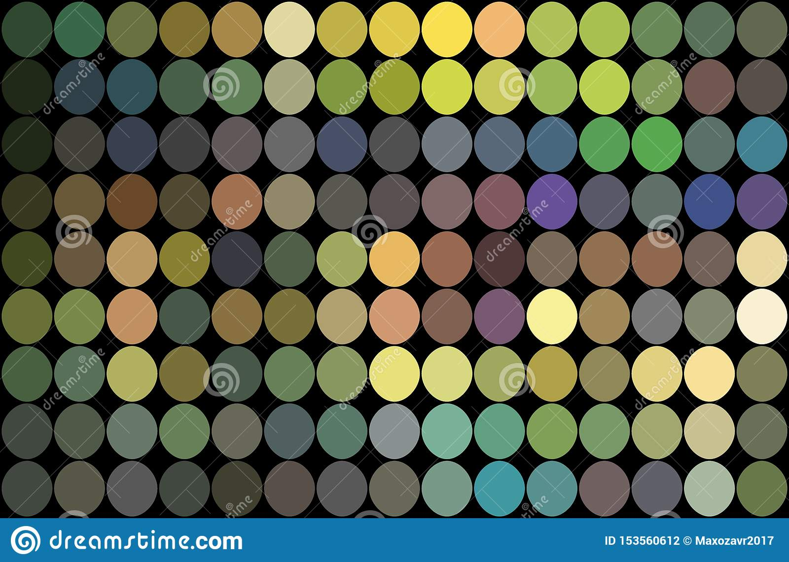 Mosaic green yellow lilac blue dots background. Shimmer holographic illustration.