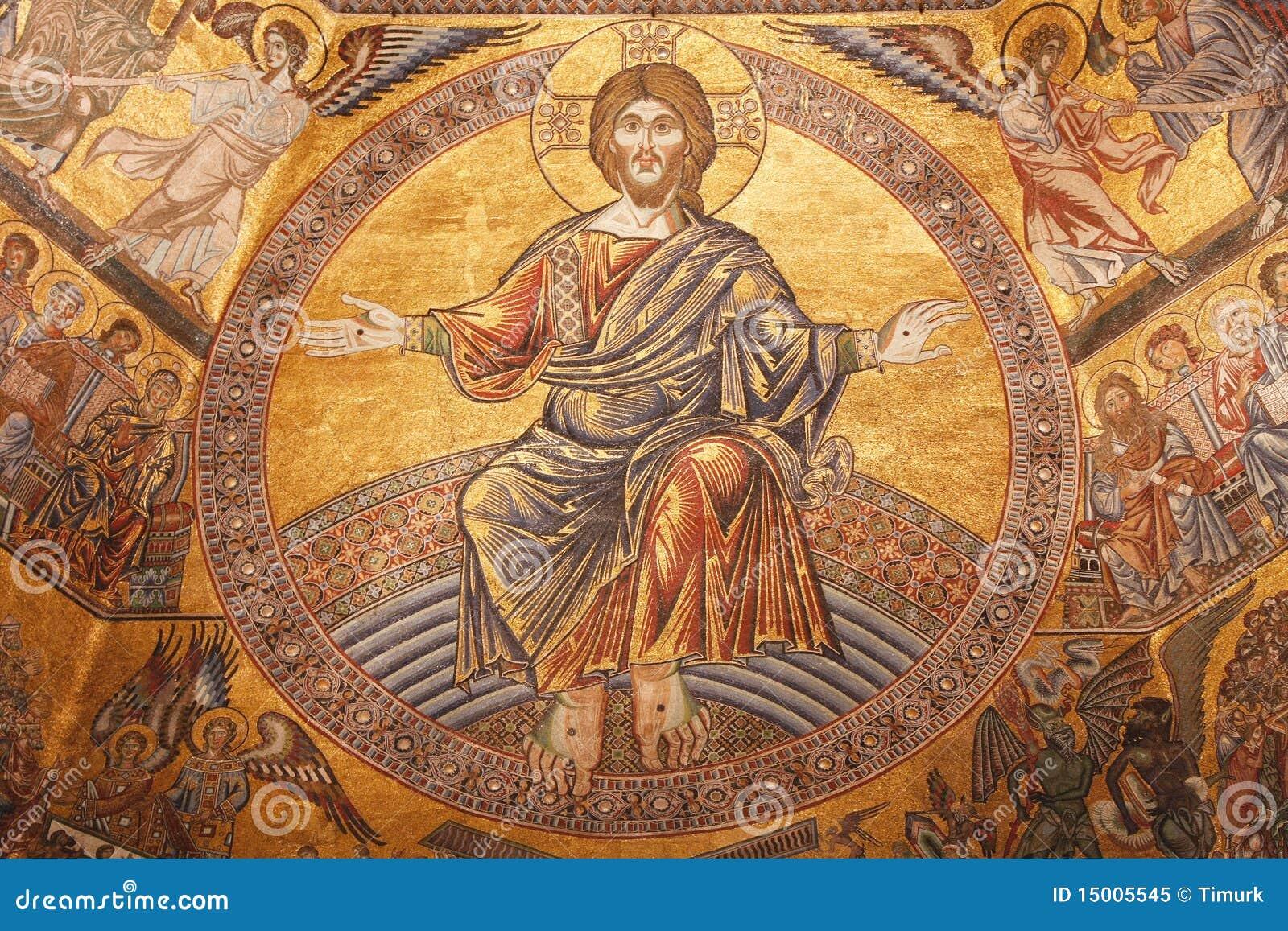 Mosaic Image Of Jesus ...