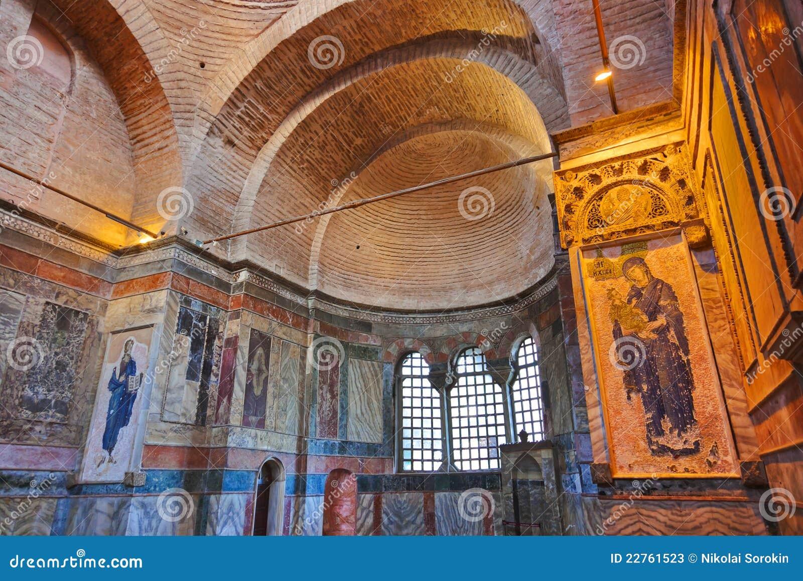 Mosaic Interior In Chora Church At Istanbul Turkey Stock Photos - Image: 2276...