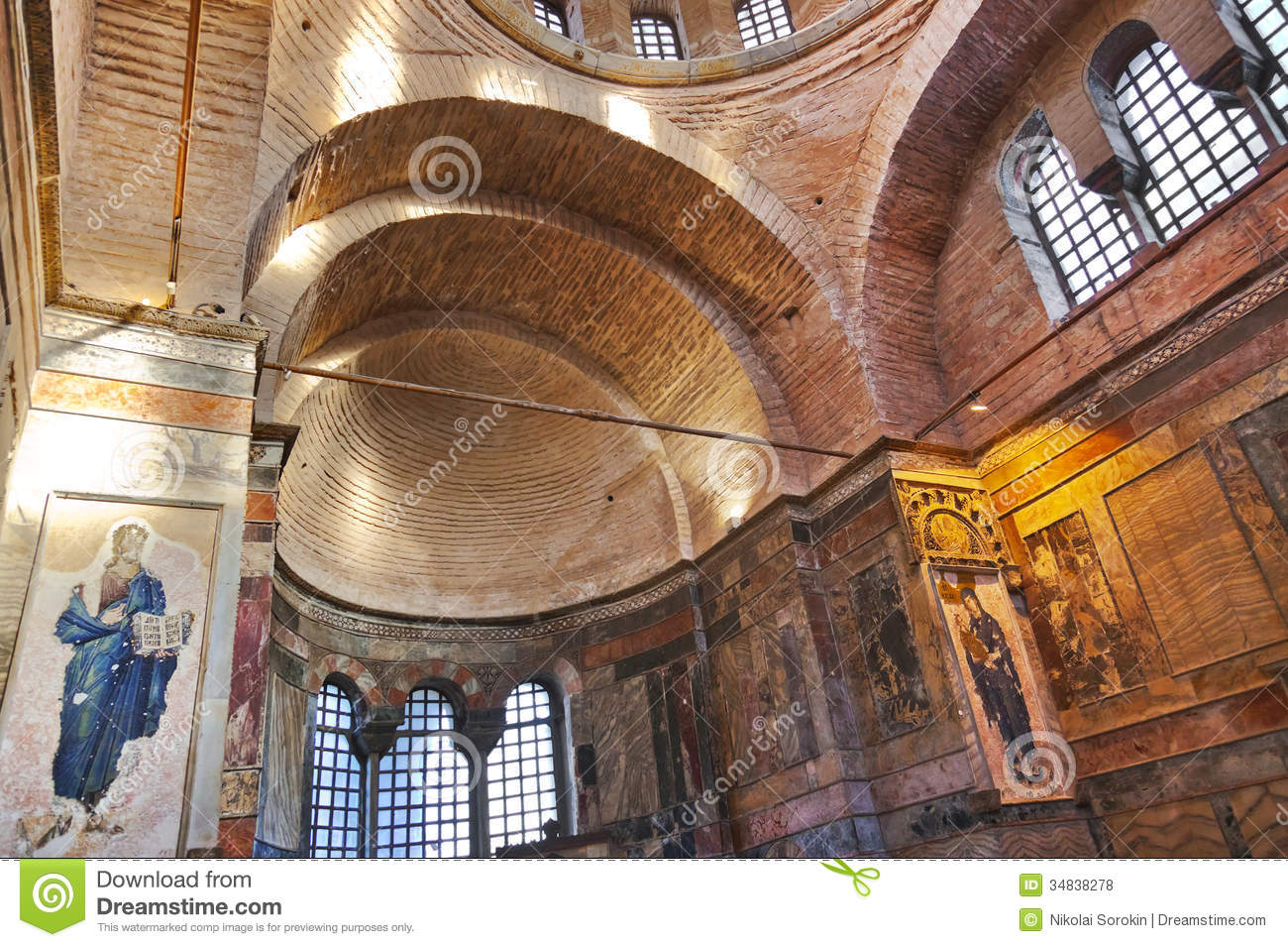 Mosaic Interior In Chora Church At Istanbul Turkey Royalty ...