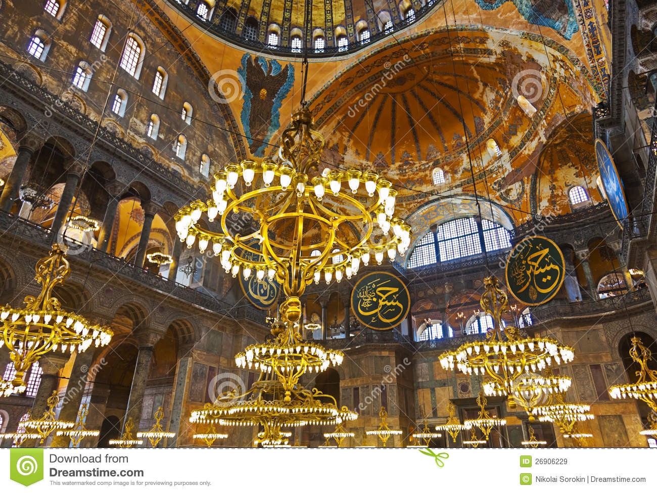 Mosaic Interior In Hagia Sophia At Istanbul Turkey Royalty Free Stock Image  | CartoonDealer.com #24600352