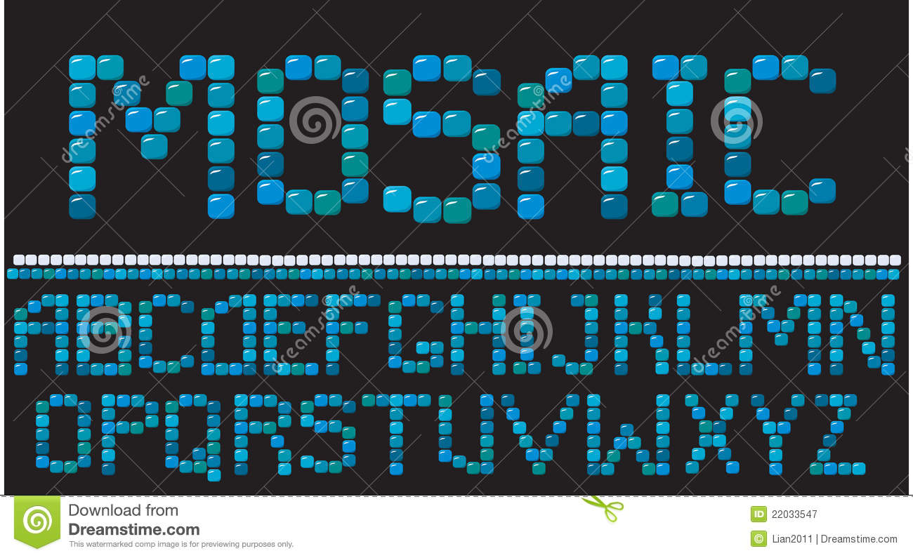 Mosaic Letters Royalty Free Stock Photography Image