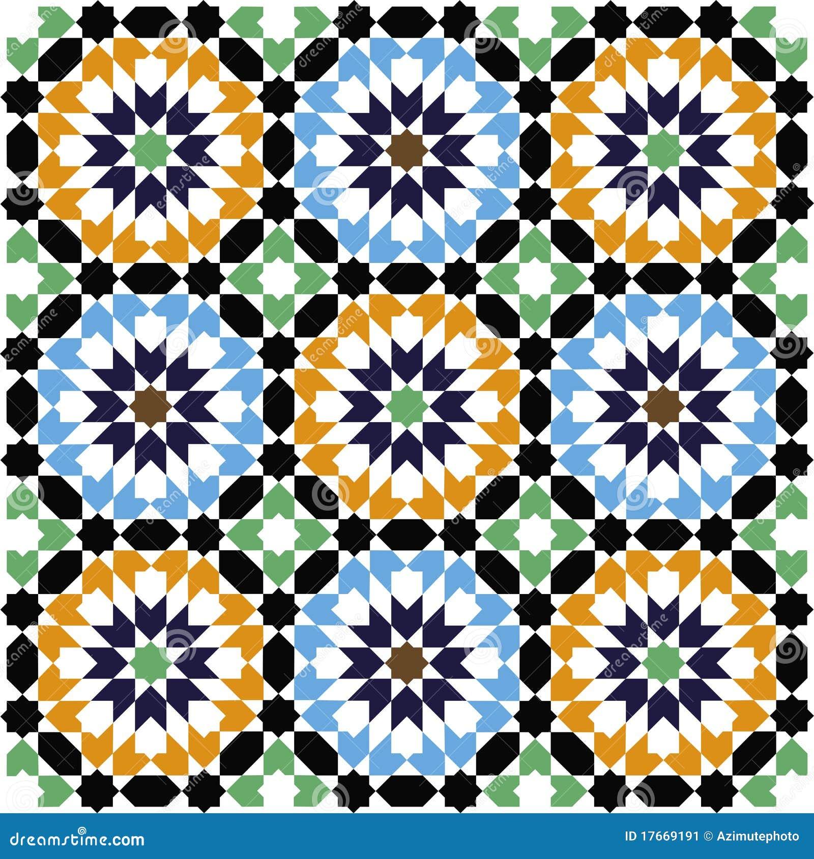 Mosaic Pattern Stock Image - Image: 17669191 Easy Arabesque Art