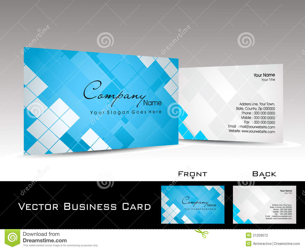 Mosaic Pattern Background Visiting Card Stock Photography ...