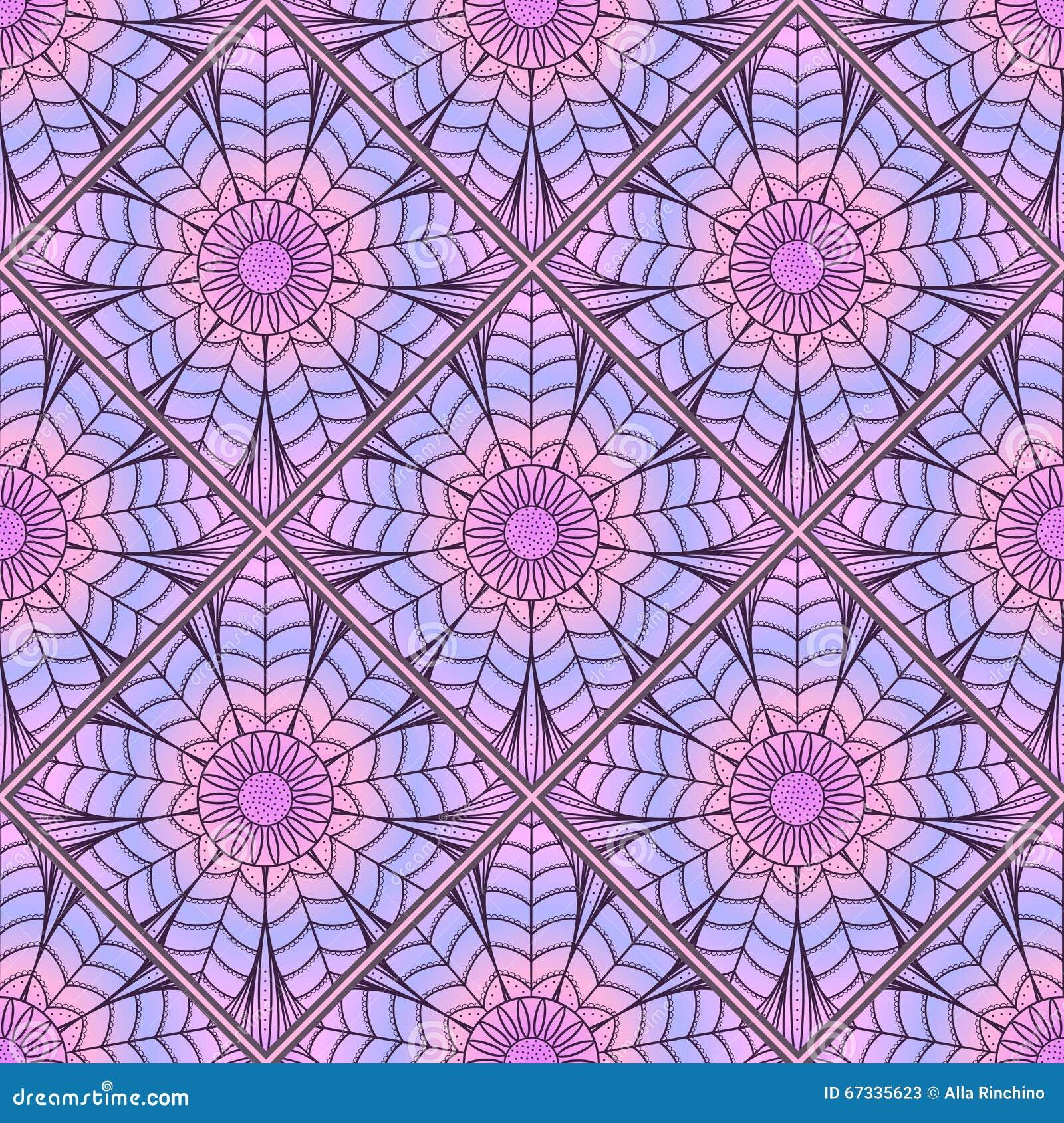 Mosaic Pattern Of Colored Mandala2 Stock Vector Illustration Of