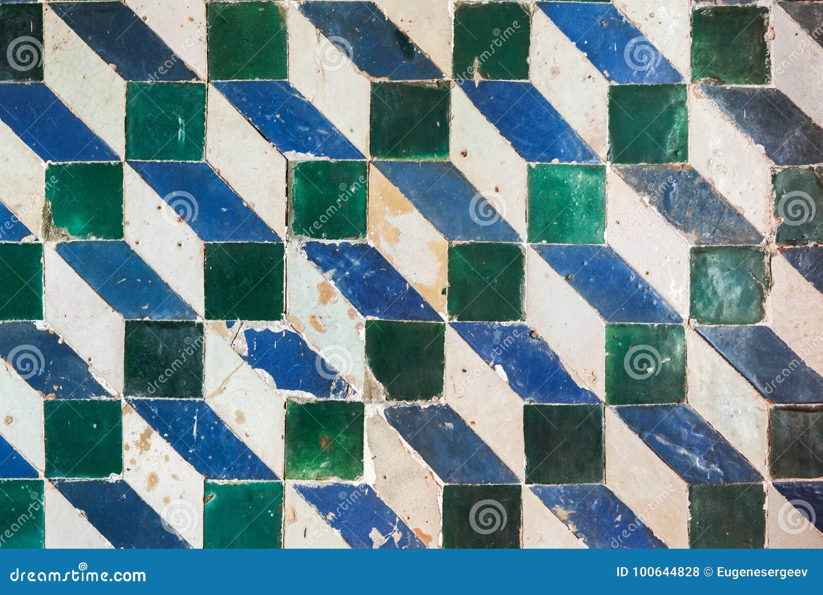 Mosaic Pattern, Geometric Wall Tiling Decoration Stock Photo - Image ...