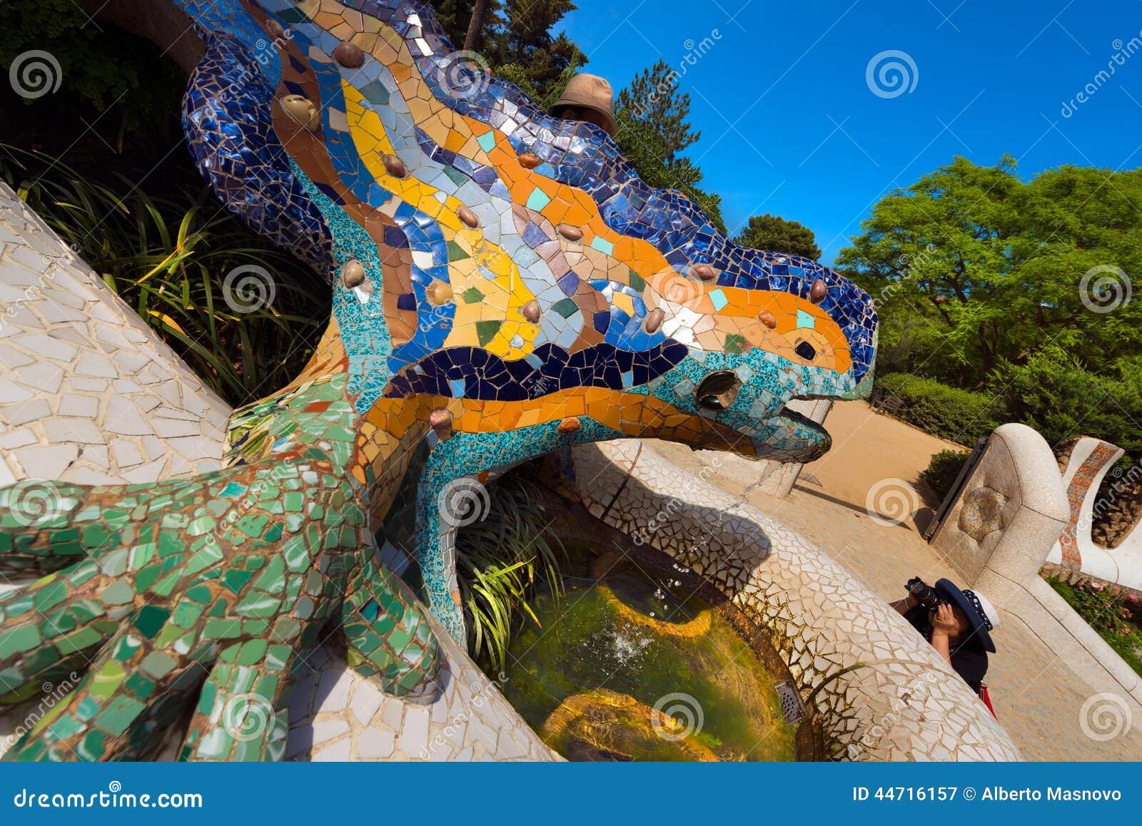 Mosaic Salamander Park Guell Barcelona Editorial