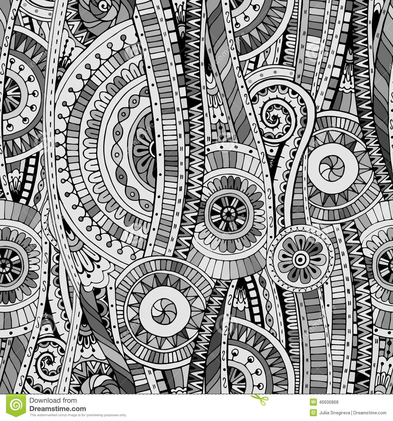 Mosaic Seamless Tribal... Black And White Tribal Print Wallpaper