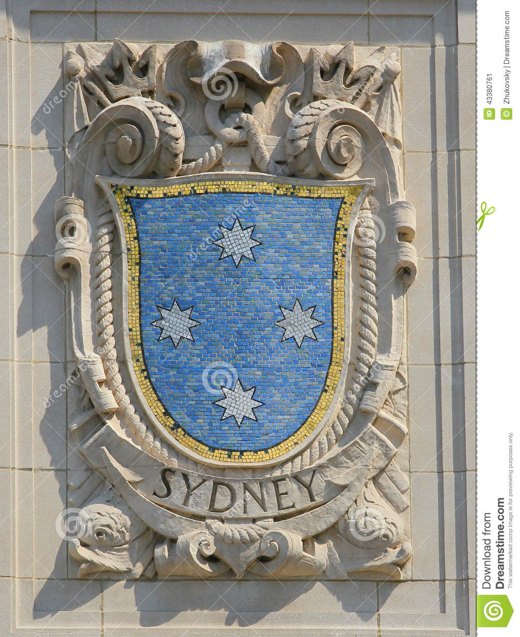 Sidney (NE) United States  city images : shield of renowned port city Sydney at the facade of United States ...