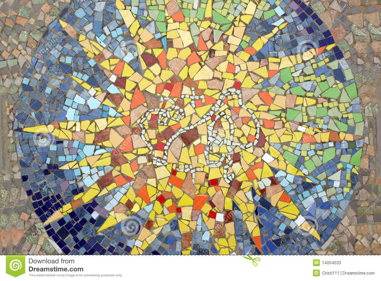 Mosaic star stock image. Image of decorative, museum - 14054533