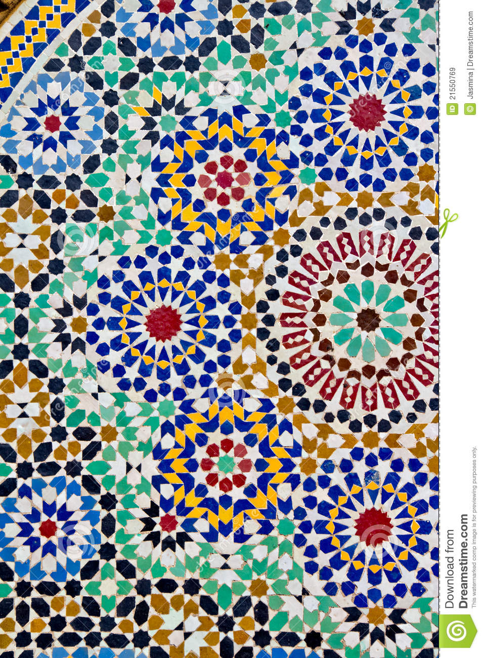 Mosaic table fes stock image image of table africa for Table mosaic xl 6 chaises encastrables