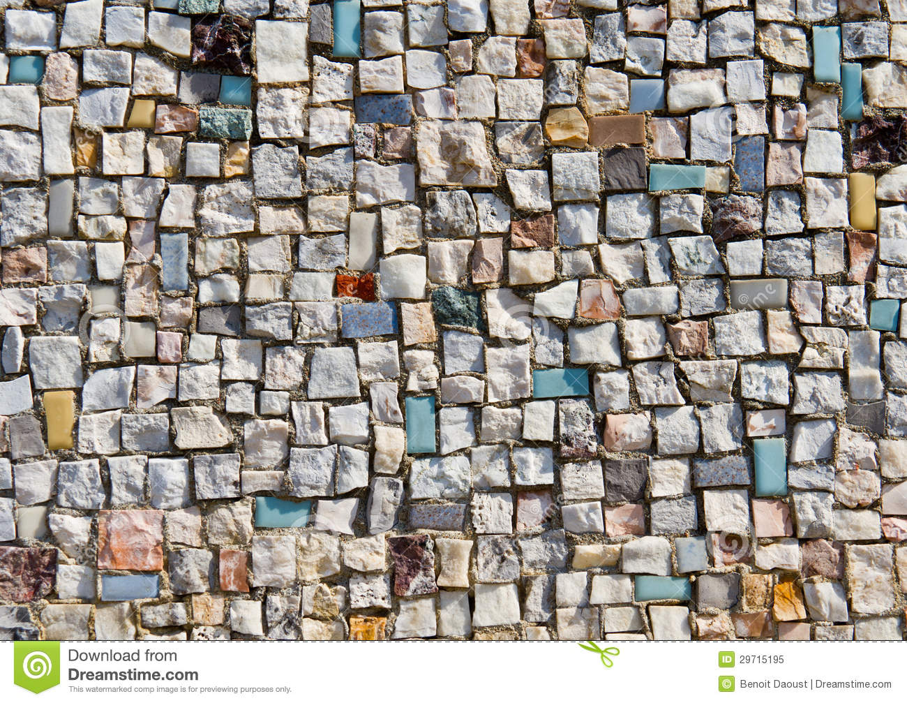 Mosaic Texture Of Little Stone Wall Stock Image Image Of