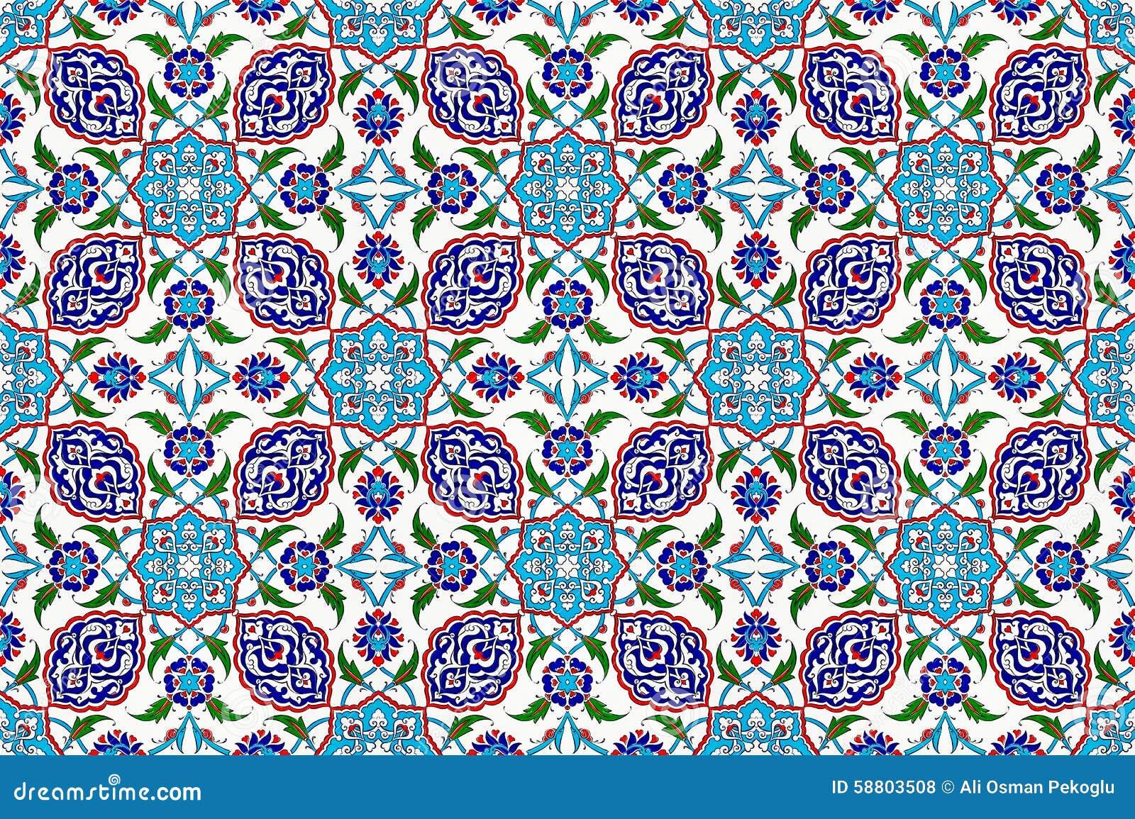 Mosaic tile pattern stock photo. Image of pattern, ottoman - 58803508