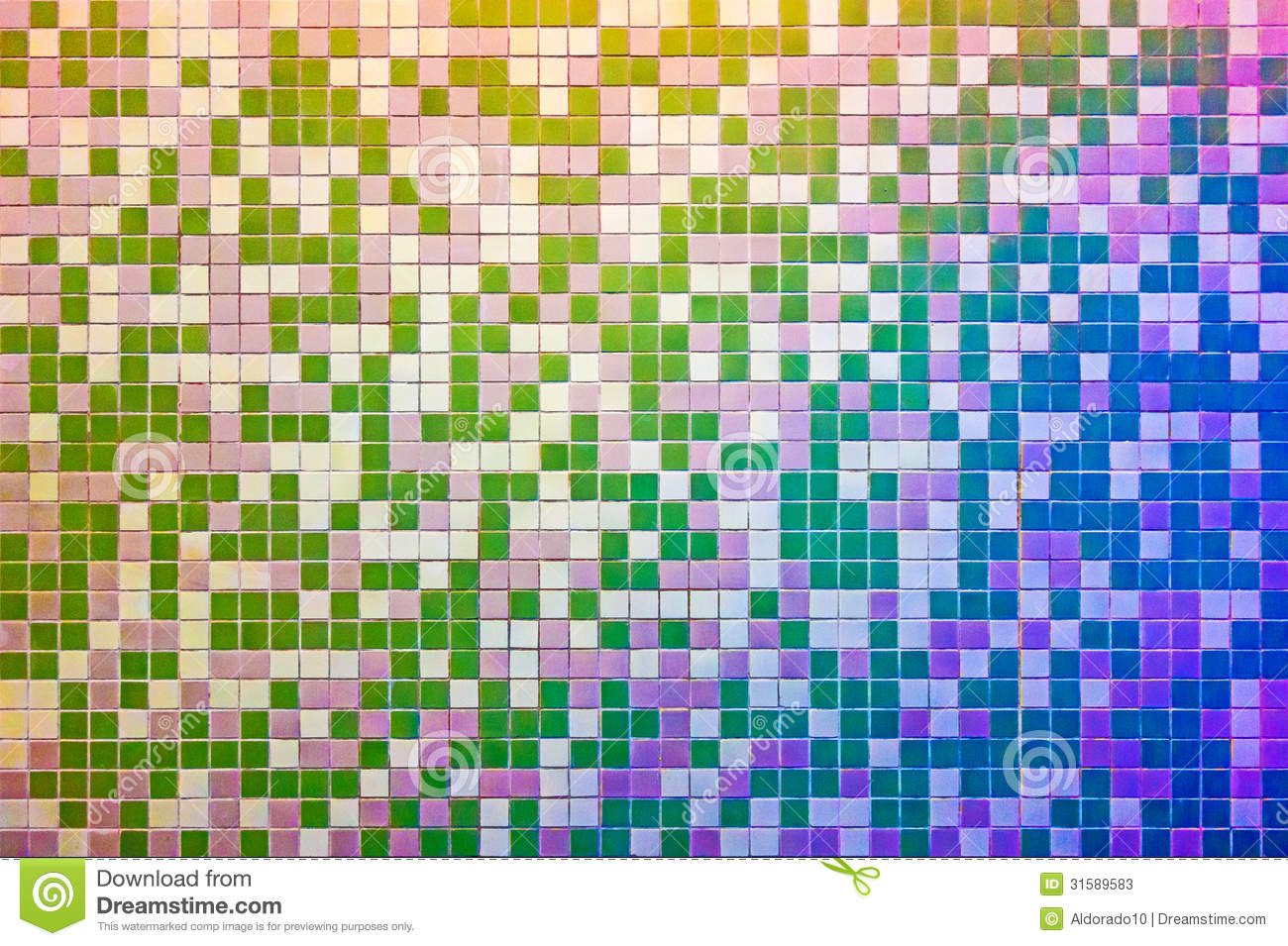 Mosaic Tile Wall Multicolored Stock Photos Image 31589583