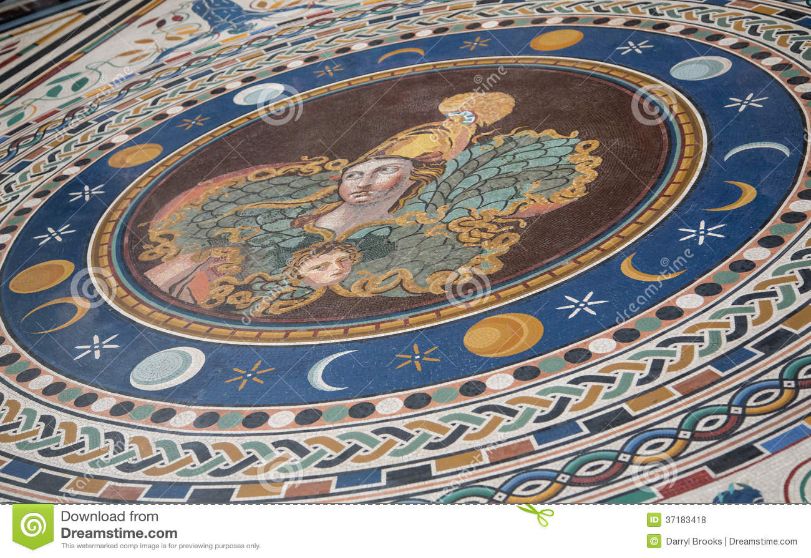 Mosaic Tile Woman On Vatican Floor Stock Photo Image 37183418