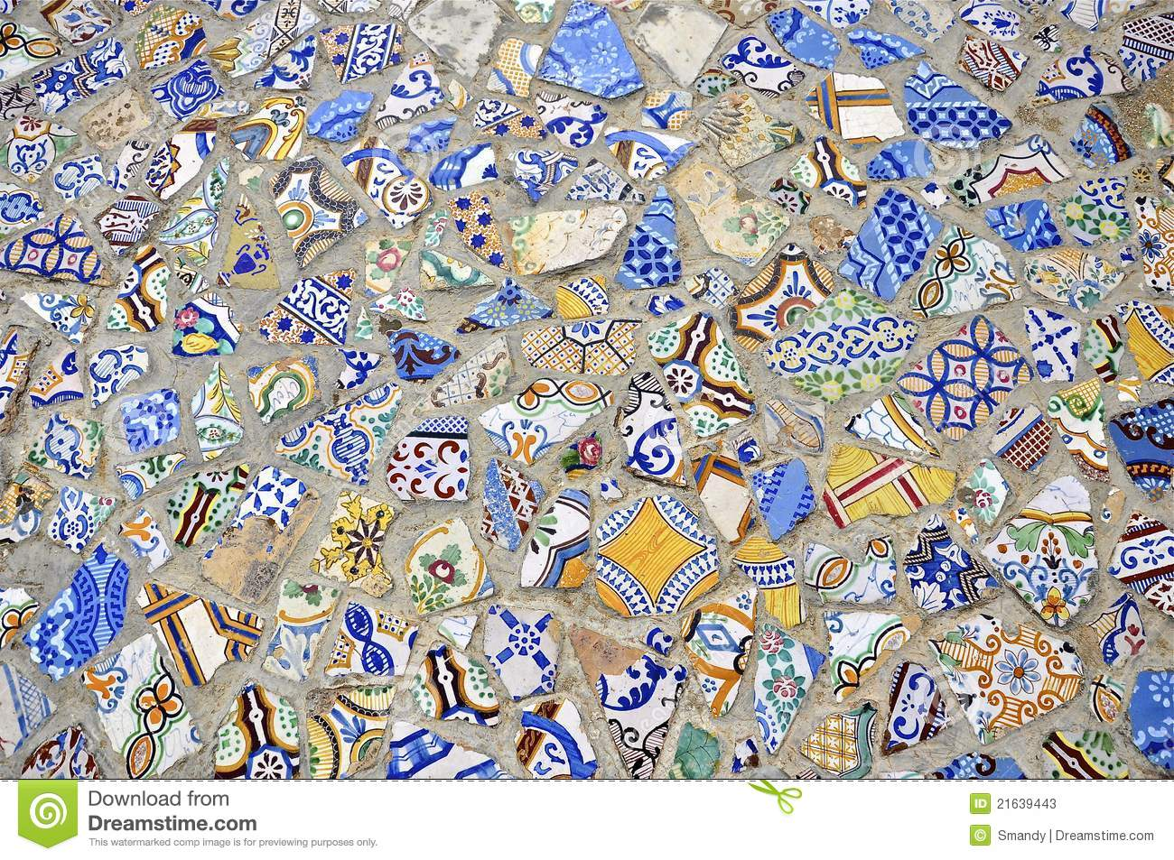 Mosaic Tiles Floor Design Stock Photos - Image: 21639443
