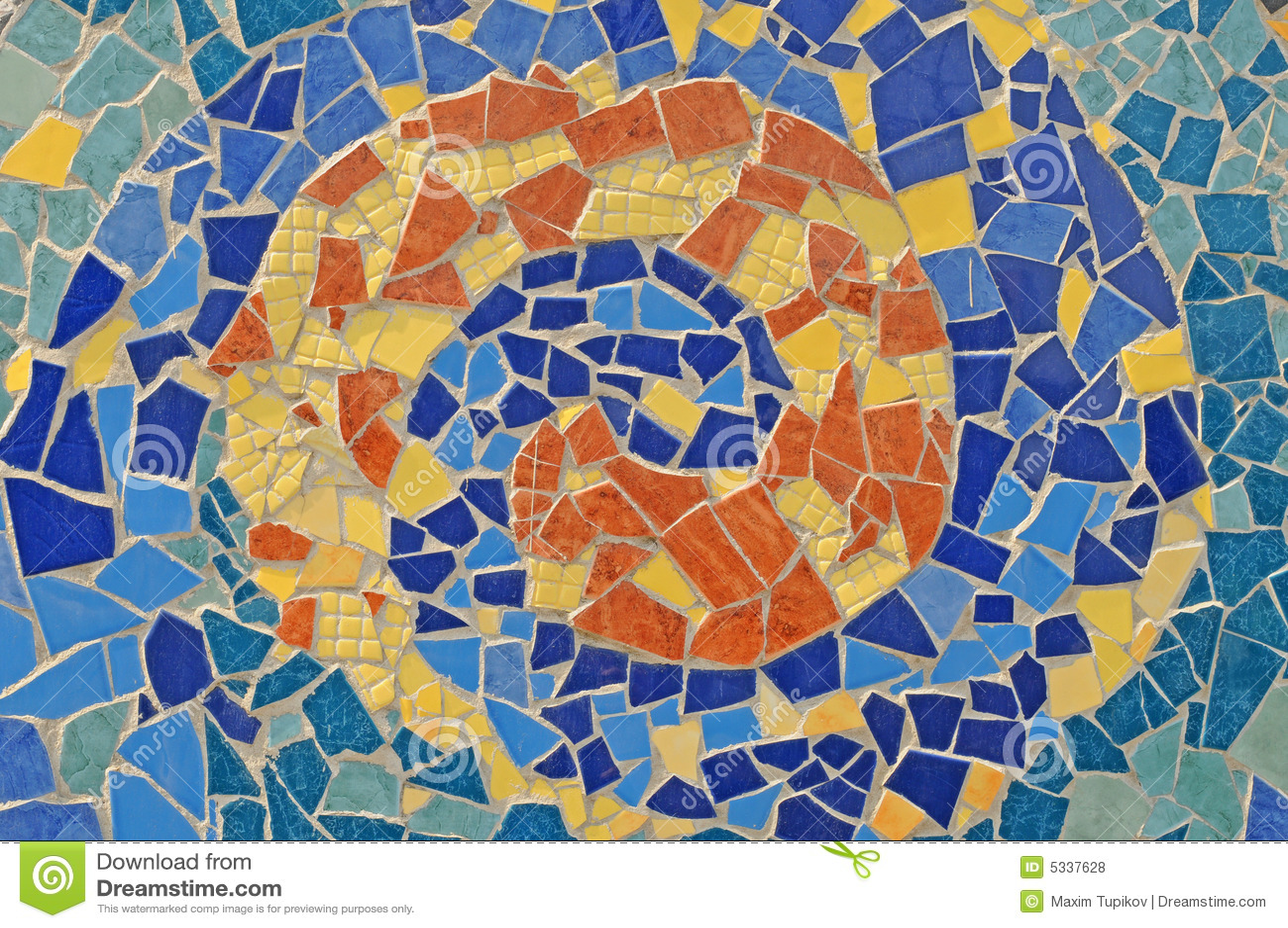 Мозаика из разбитой плитки своими руками