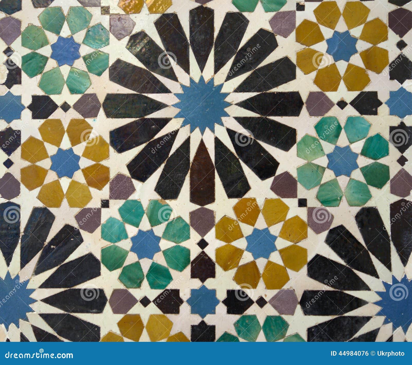 Mosaici Nel Palazzo Di Alhambra Granada Spagna