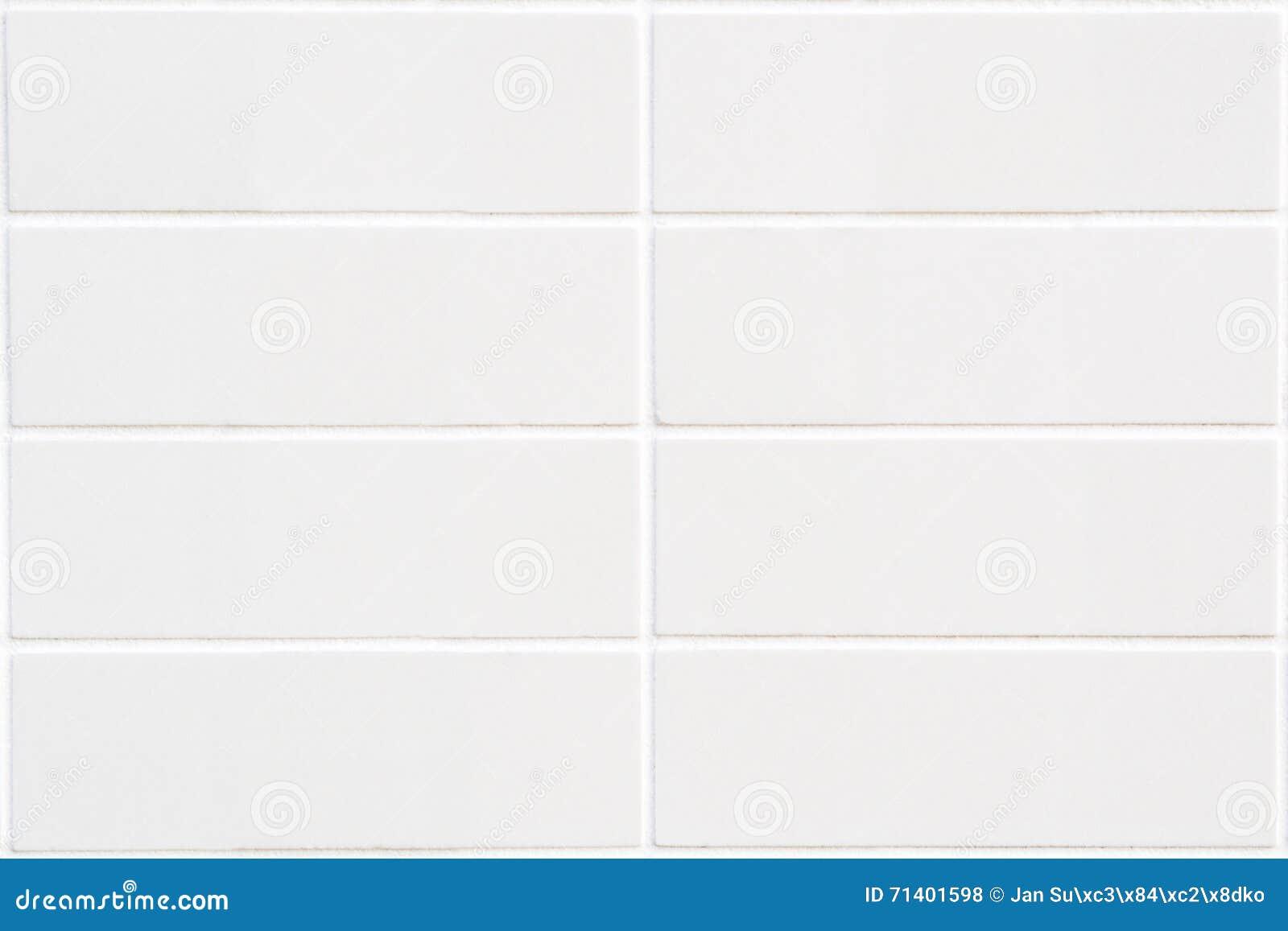 Mosaico Blanco Del Rectángulo Con La Estructura Horizontal