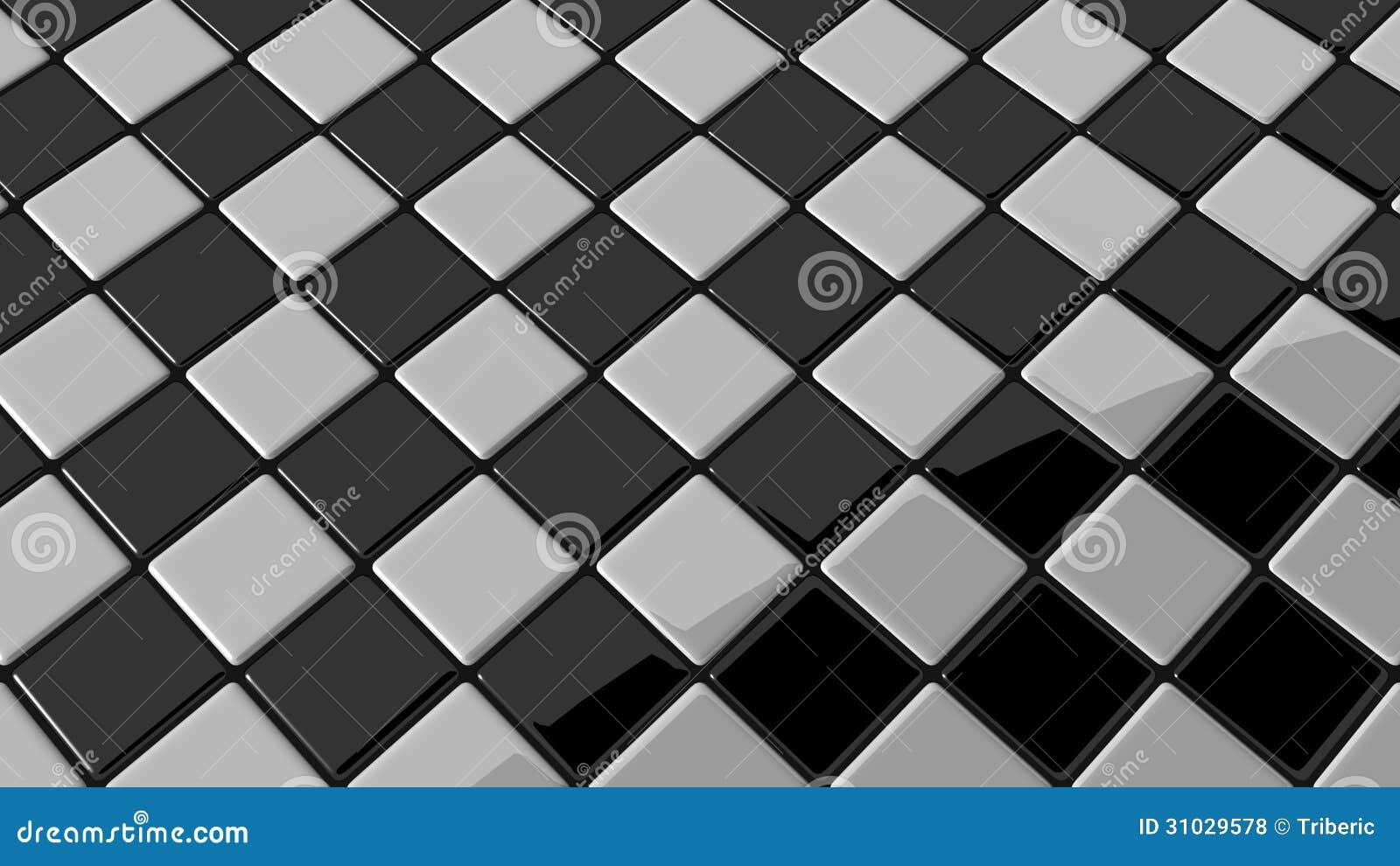 Mosaico blanco y negro con la sombra redonda fotos de for Papel pintado blanco y negro