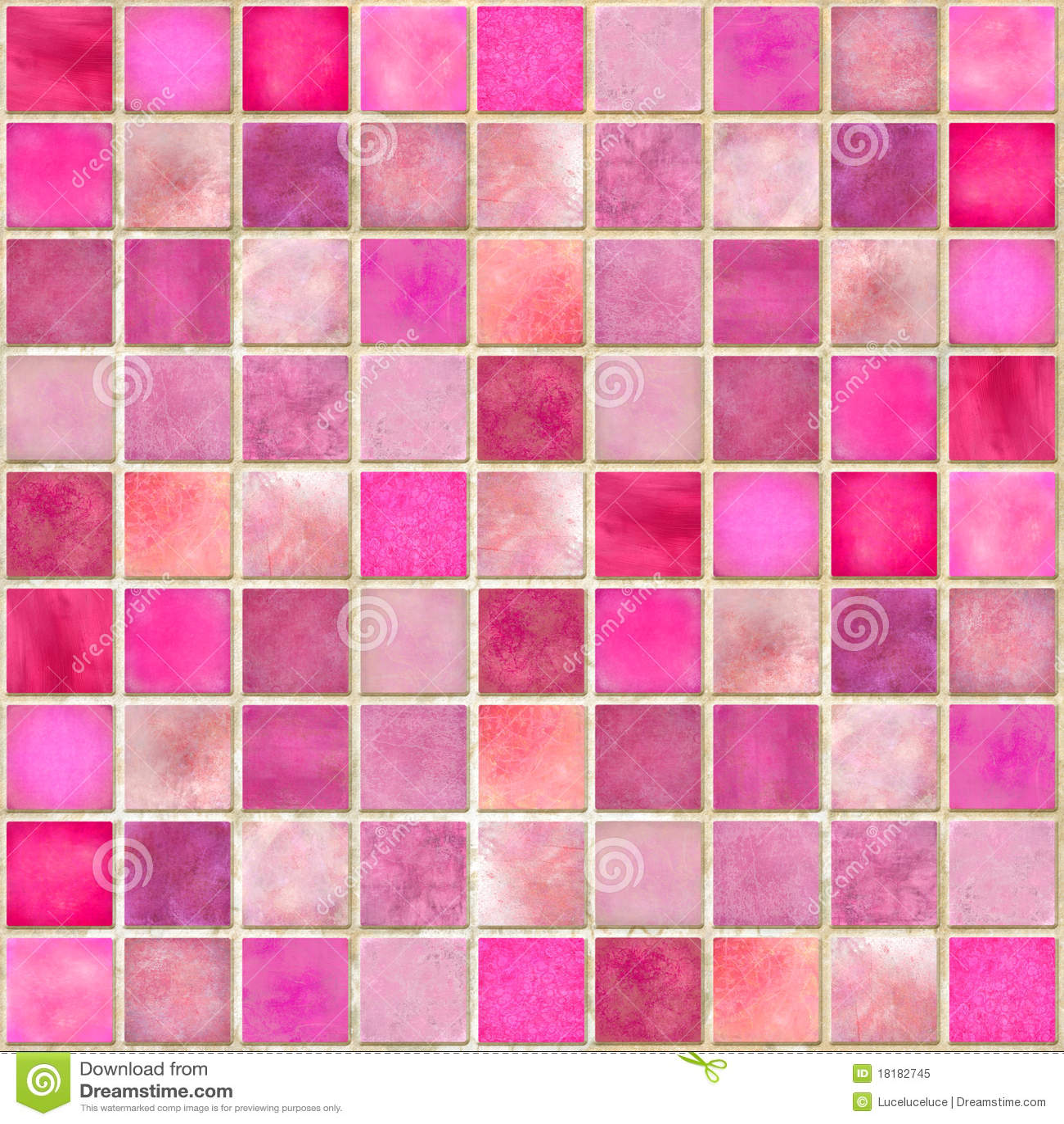 Mosaico cor-de-rosa da telha