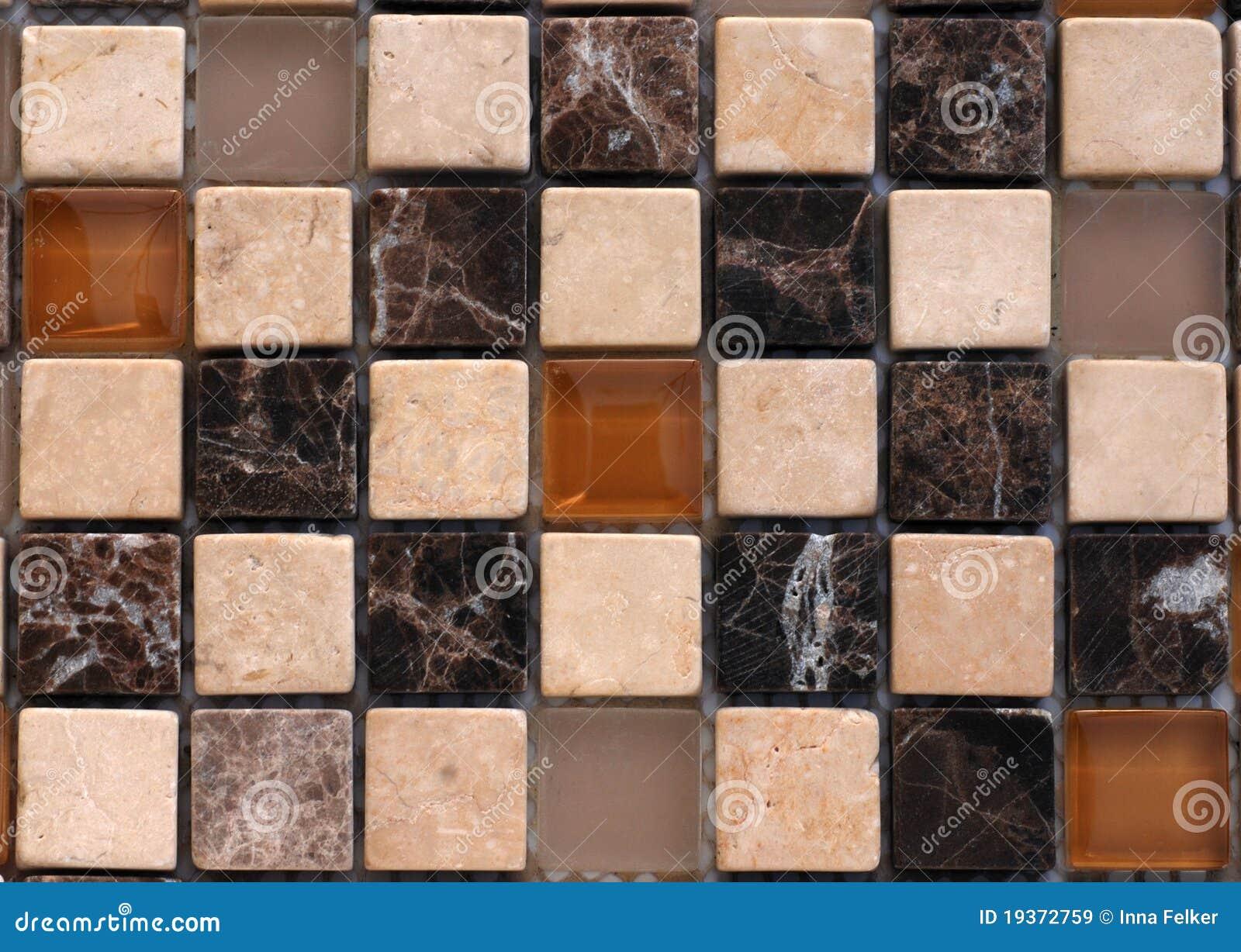 Mosaico de pedra da mistura