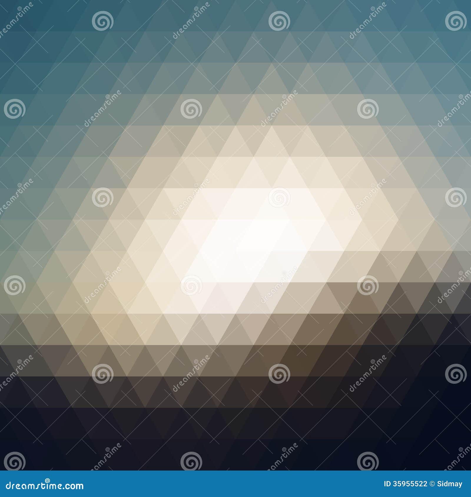 Mosaico del pixel del triángulo de Digitaces