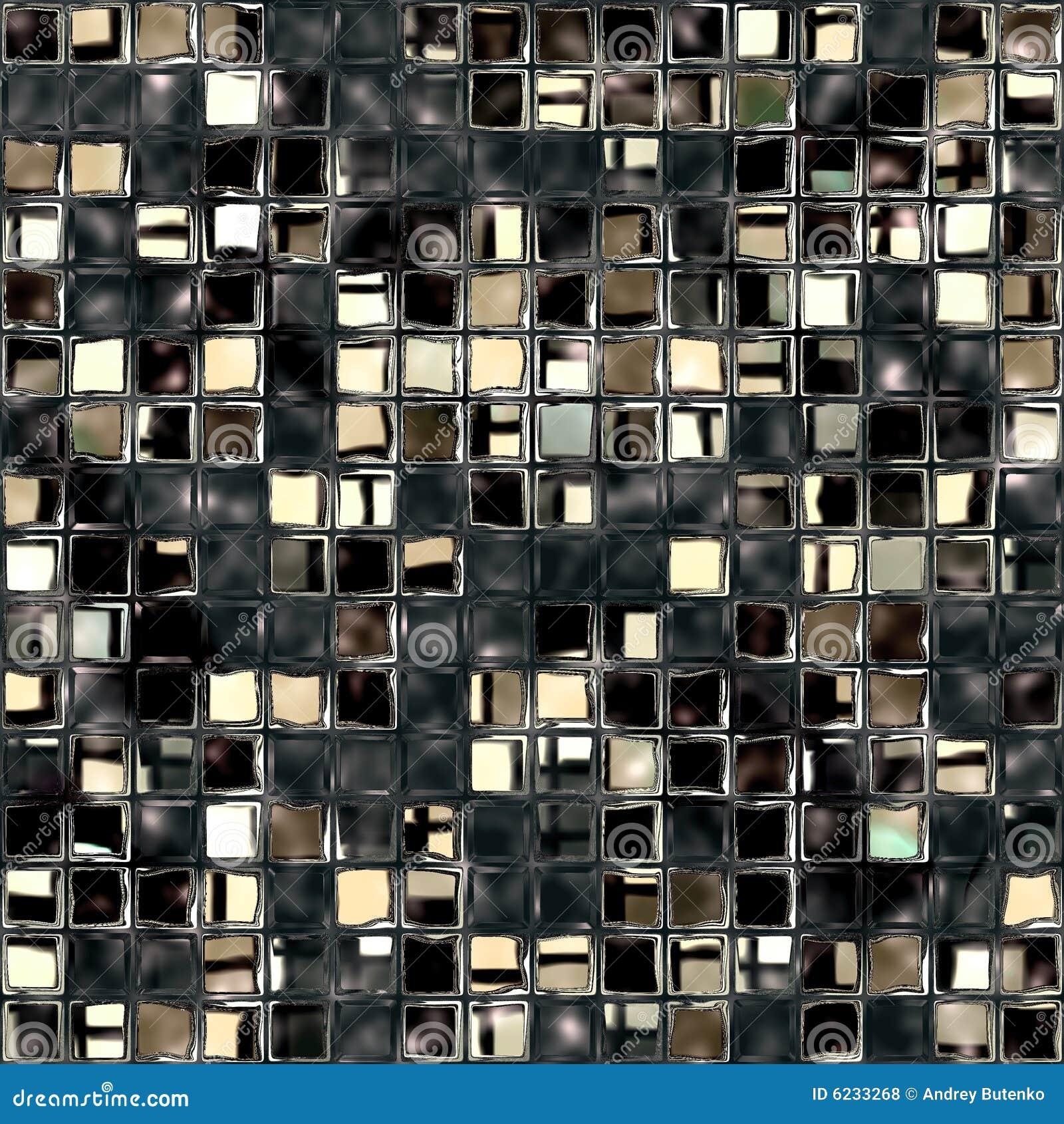 Mosaico di vetro rotto
