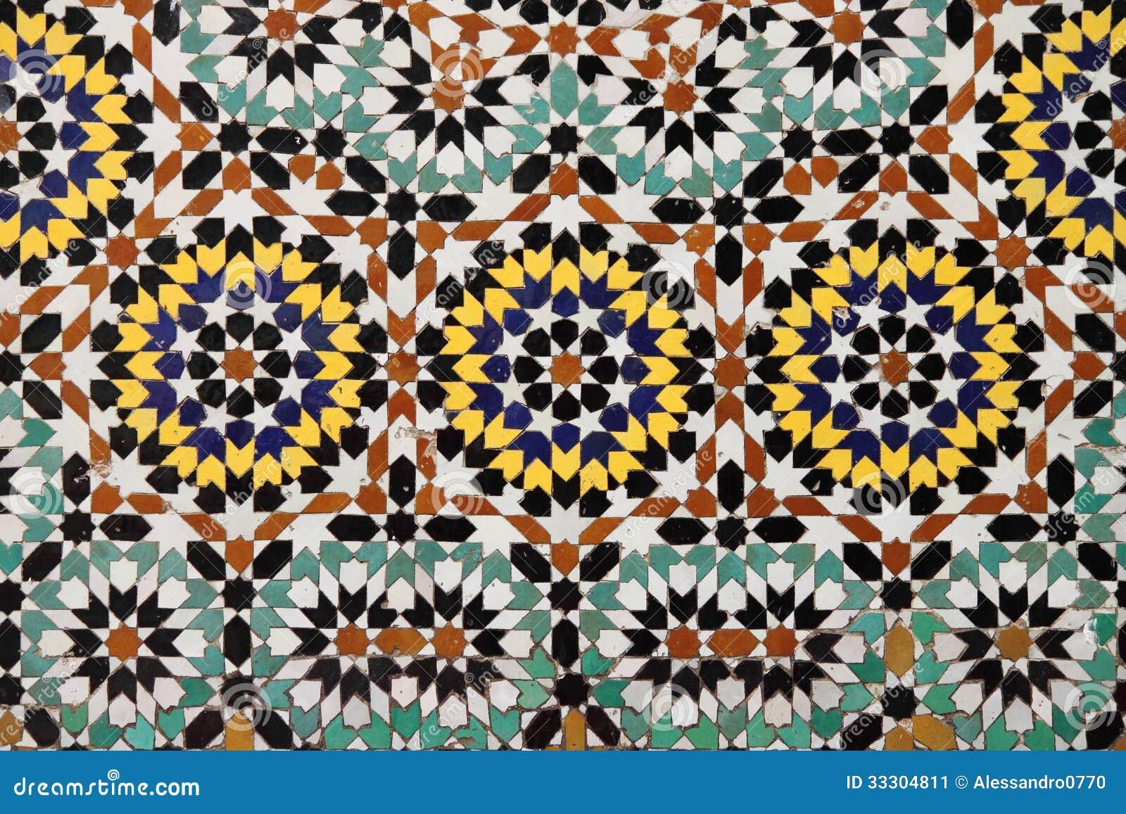Mosaico marocchino immagine stock. immagine di colorful 33304811