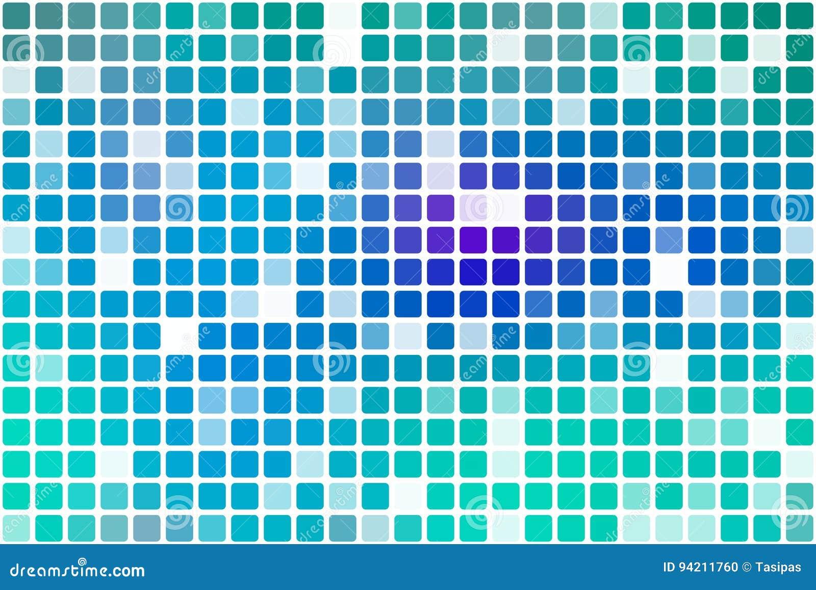 Mosaico ocasional roxo da opacidade do azul de turquesa sobre o branco