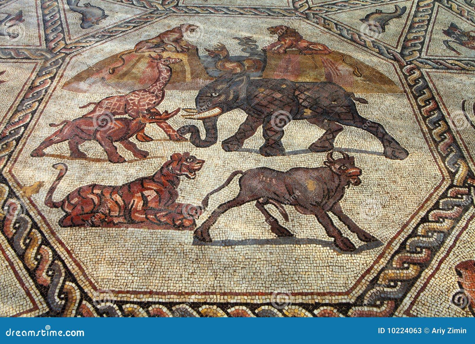 Mosaico romano fotografie stock immagine 10224063 for Mosaico romano
